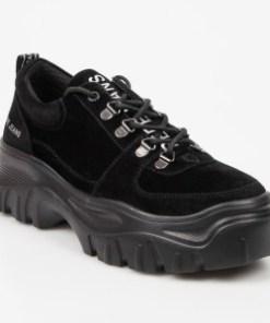 Pantofi PEPE JEANS negri, LS10389, din material textil