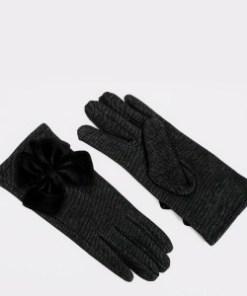 Manusi ALDO negre, Sebrilia001, din material textil