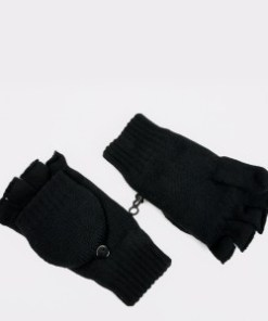 Manusi ALDO negre, Treaven001, din material textil