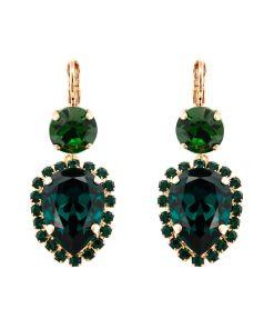 Cercei Emerald placati cu aur 24K - 1098/9-205205RG6