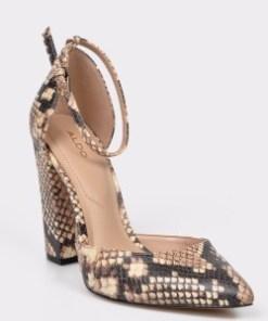 Pantofi ALDO bej, Nicholes, din piele ecologica