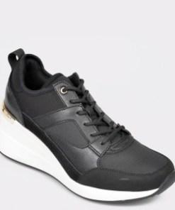 Pantofi ALDO negri, Thrundra, din material textil