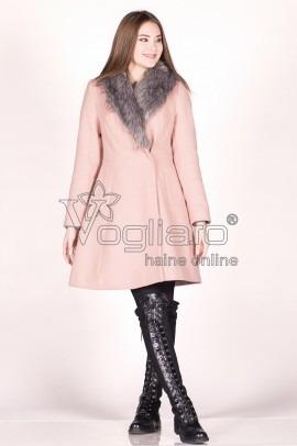 Palton Dama Somon Cu Blanita La Gat
