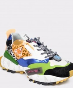 Pantofi sport FLAVIA PASSINI multicolori, 99130, din piele naturala