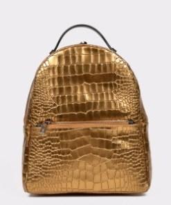Rucsac EPICA auriu, Aa422, din piele naturala