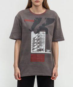 Tricou Reminiscente Tricou Gri Decolorat