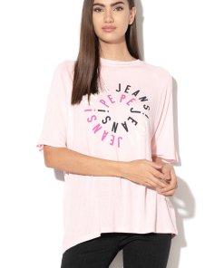 Tricou din jerseu cu imprimeu logo Molly