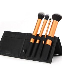 Set 4 pensule machiaj profesioanale - Black Orange Collection + Borseta Cadou