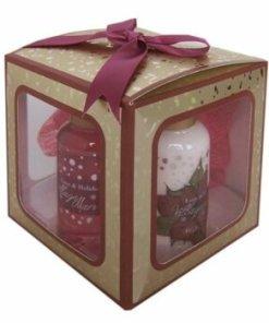 Set cutiuta cadou Magic (Gel de dus 50 ml, lotiune de corp 50 ml, buretel)