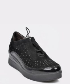 Pantofi STONEFLY negri, Cream21, din piele naturala