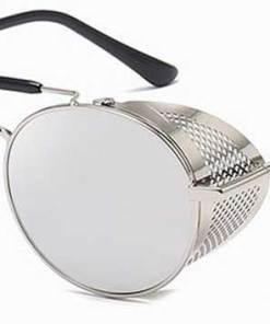 Ochelari de soare Rotunzi Steampunk Cage Argintiu