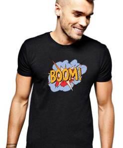 Tricou barbati negru - Boom