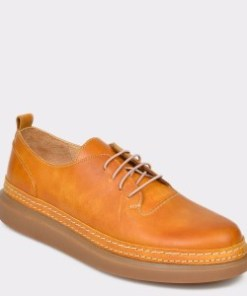 Pantofi FLAVIA PASSINI galbeni, Md4804, din piele naturala