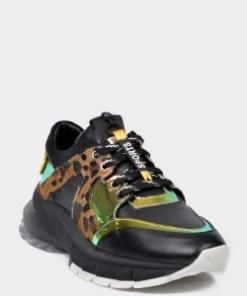 Pantofi sport FLAVIA PASSINI negri, 053414K, din piele ecologica