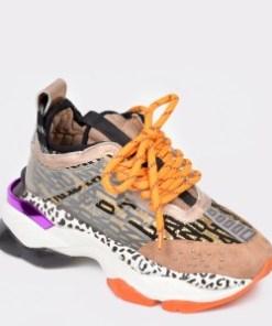 Pantofi sport FLAVIA PASSINI multicolori, 3066, din material textil si piele naturala