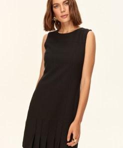 Rochie mini - Trendyol Black Pleated Dress 790497