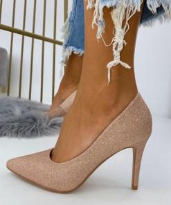 Pantofi Stiletto Dama Glitter Roz Auriu Arana2 B6900