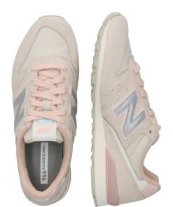 New Balance Sneaker low 'WL996' gri deschis / roz