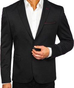 Sacou elegant barbati negru Bolf RBR406