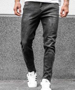 Blugi negri straight leg Bolf KX237