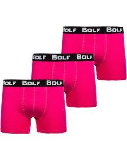 Boxeri barbati roz Bolf 0953-3P 3 PACK