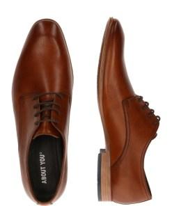 ABOUT YOU Pantofi cu sireturi 'Alexander' coniac