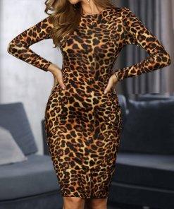 Rochie Mini Tsolmon Leopard