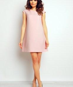 Rochie eleganta, scurta, de culoare roz