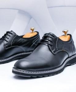 Pantofi barbati Piele negri Laterio-rl