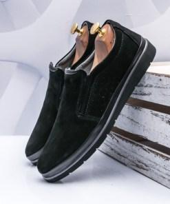 Pantofi barbati Piele negri Panuli-rl