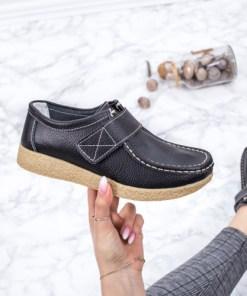 Pantofi casual Piele negri Bisos-rl