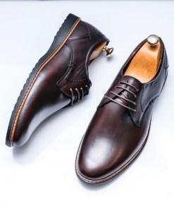 Pantofi Piele barbati maro Golasio-rl
