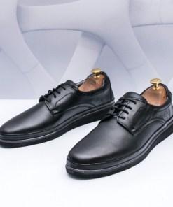 Pantofi Piele barbati negri Compali-rl