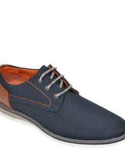 Pantofi BUGATTI bleumarin, 68403, din material textil
