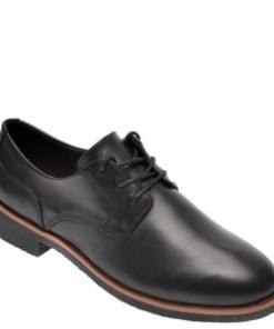 Pantofi CLARKS negri, Griffin Lane, din piele naturala
