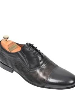 Pantofi LE COLONEL negri, 61022, din piele naturala