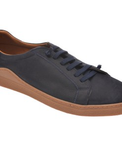 Pantofi OTTER bleumarin, M5607, din nabuc