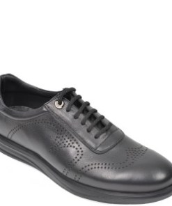 Pantofi OTTER negri, E881, din piele naturala