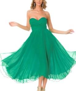 Rochie midi tulle dama verde BBY