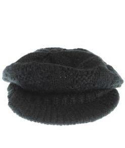 Sapca neagra, tricotata