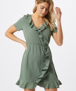 VERO MODA Rochie de vară 'VMOLIVIA FRILL SS SHORT DRESS NOOS' verde pastel