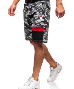 Pantaloni scurți trening bărbați gri Bolf KK300160