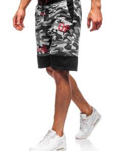 Pantaloni scurți trening bărbați gri Bolf KK300159