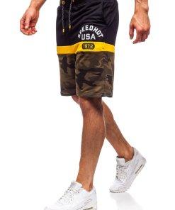 Pantaloni scurți de trening kaki Bolf KK300157