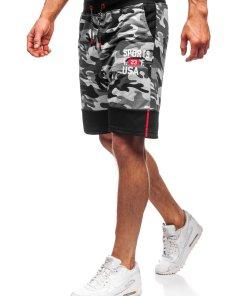 Pantaloni scurți trening bărbați gri Bolf KK300158