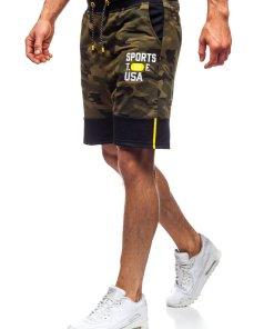 Pantaloni scurți de trening kaki Bolf KK300158