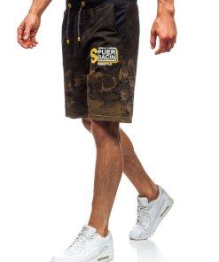 Pantaloni scurți de trening kaki Bolf KK300151
