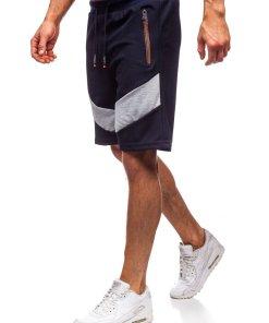 Pantaloni scurți de trening bleumarin Bolf KS2515