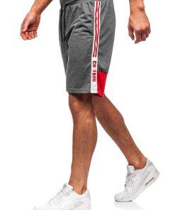 Pantaloni scurți de trening grafit Bolf KS2501