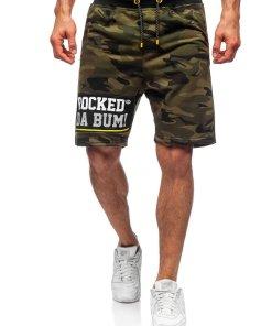 Pantaloni scurți de trening kaki Bolf KK300161
